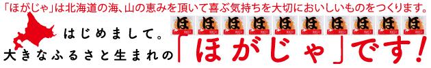 【福太郎】ほたてフリッターおせん ほがじゃは北海道の海、山の恵みを頂いて喜ぶ気持ちを大切においしいものをつくります。はじめまして。大きなふるさと生まれの「ほがじゃ」です!